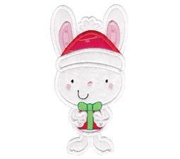 Applique Christmas Bunny Rabbit