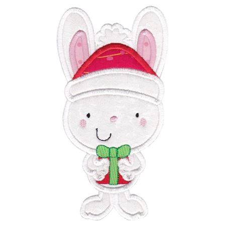 Applique Christmas Bunny Rabbit