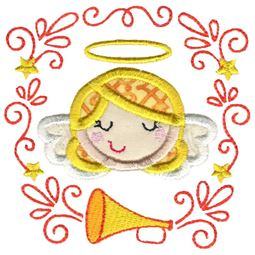Applique Angel Laurel