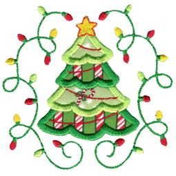 Applique Christmas Tree Laurel