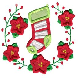 Applique Stocking Laurel