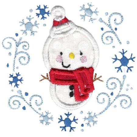 Applique Snowman Laurel