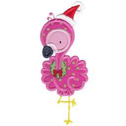 Applique Christmas Flamingo