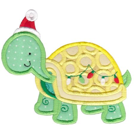 Applique Christmas Turtle