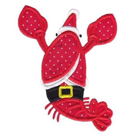 Applique Christmas Lobster
