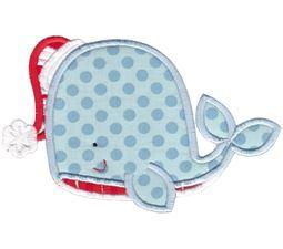 Applique Christmas Whale