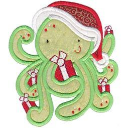 Applique Christmas Octopus
