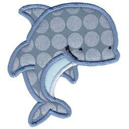 Aquarium Dolphin Applique