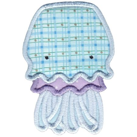 Aquarium Jellyfish Applique