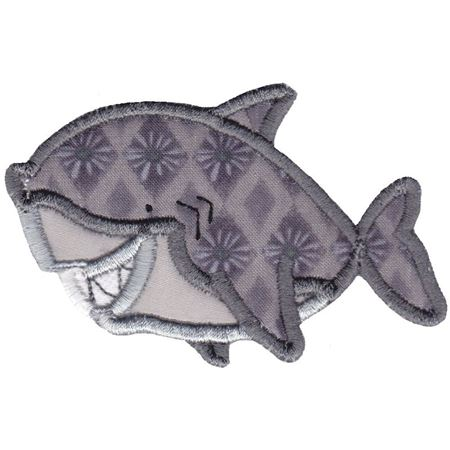 Aquarium Shark Applique