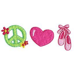 Peace Love Ballet Shoes
