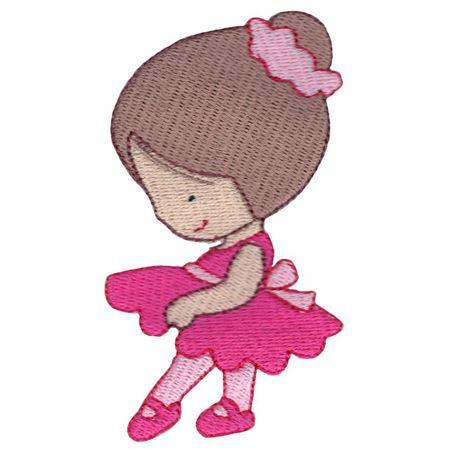 Ballerina in Pink Tutu Side View