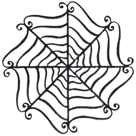 Baroque Spooky Spider Web