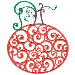 Baroque Swirly Pumpkin