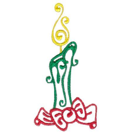 Baroque Swirly Christmas Candle
