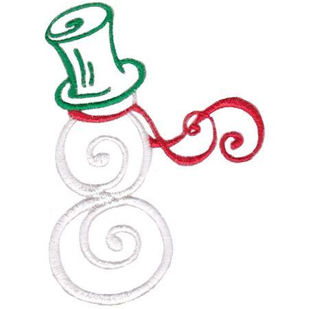 Baroque Swirly Christmas Snowman