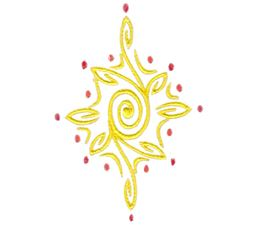 Baroque Swirly Christmas Star