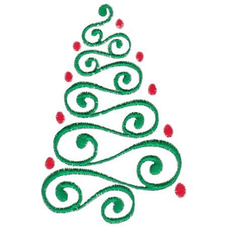 Baroque Swirly Christmas Tree