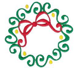 Baroque Swirly Christmas Wreath