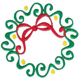 Baroque Swirly Christmas Wreath