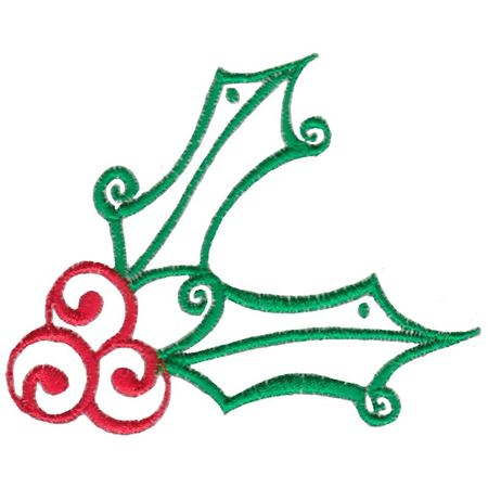 Baroque Swirly Christmas Holly