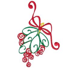 Baroque Swirly Christmas Mistletoe