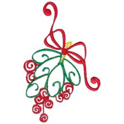 Baroque Swirly Christmas Mistletoe