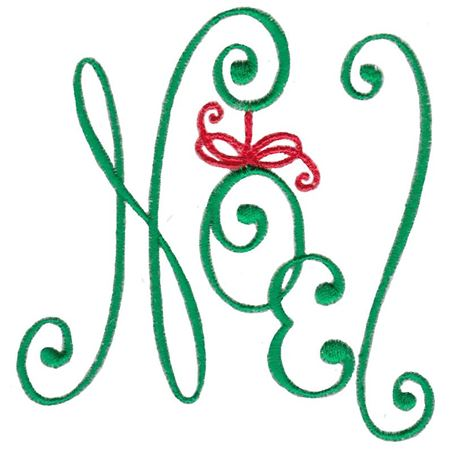 Baroque Swirly Christmas Noel