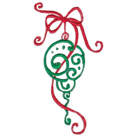 Baroque Swirly Christmas Ornament