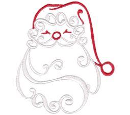 Baroque Swirly Christmas Santa