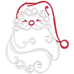 Baroque Swirly Christmas Santa