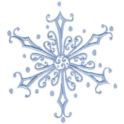 Baroque Swirly Christmas Snowflake