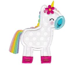 Standing Unicorn Applique