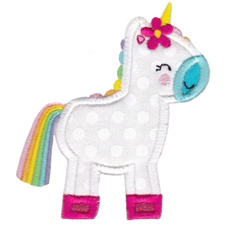 Standing Unicorn Applique
