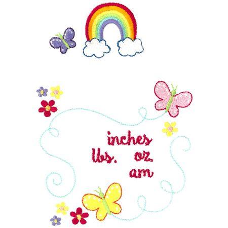 Rainbow Birth Announcement US am