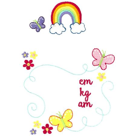 Rainbow Birth Announcement Metric am