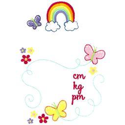 Rainbow Birth Announcement Metric pm