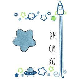 Space Birth Announcement Metric pm