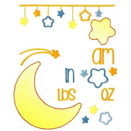 Moon Birth Announcement US am