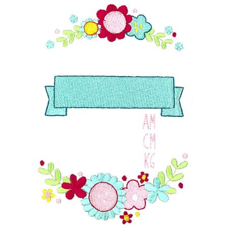 Floral Birth Announcement Metric am