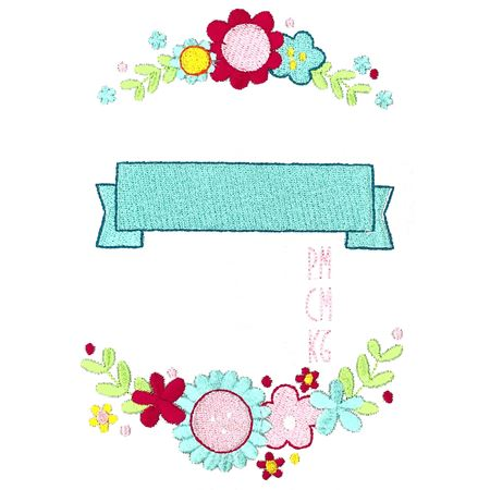 Floral Birth Announcement Metric pm