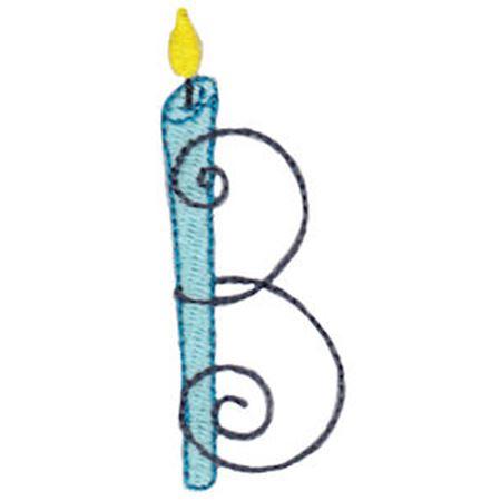 Birthday Candles Alphabet Capital B