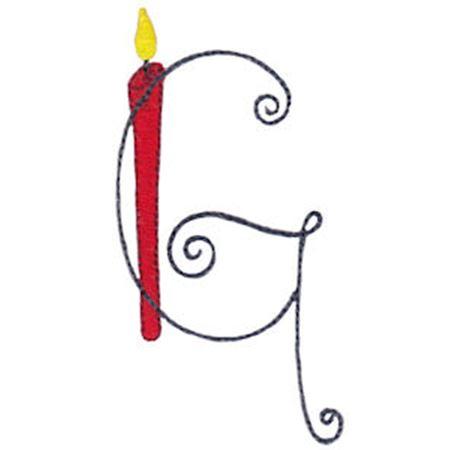 Birthday Candles Alphabet Capital G