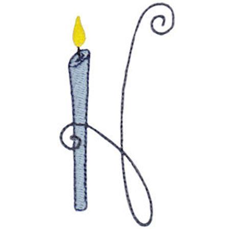 Birthday Candles Alphabet Capital H