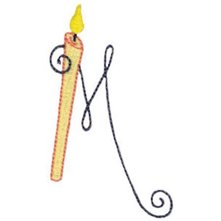 Birthday Candles Alphabet Capital M