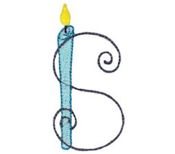 Birthday Candles Alphabet Capital S