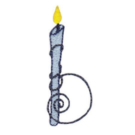 Birthday Candles Alphabet Lower Case b
