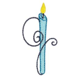 Birthday Candles Alphabet Lower Case g