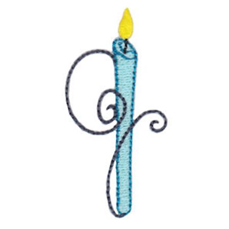 Birthday Candles Alphabet Lower Case g