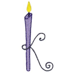 Birthday Candles Alphabet Lower Case k